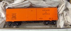 ARCADE AND ATTICA EARLY 36 FT WOOD BOXCAR HO SCALE DECAL SET.