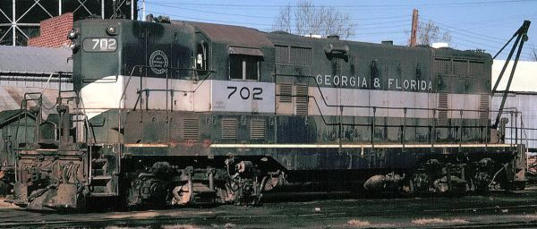 GEORGIA & FLORIDA RR GP 7 DIESEL LOCO (G&F R.R. REPAINT) HO DECAL SET