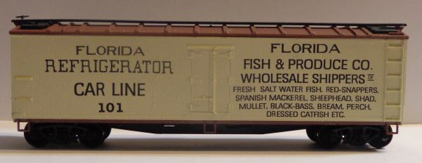 JACKSONVILLE REFRIGERATOR CAR LINES 40 FT REEFER CAR HO SCALE DECAL SET