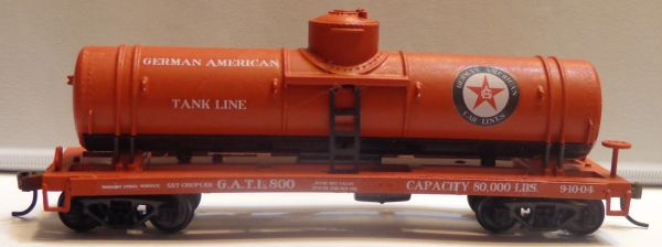 GERMAN AMERICAN TANK LINES HO SCALE TANKER CAR DECAL SET