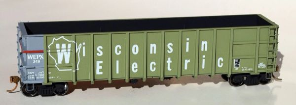 WISCONSIN ELECTRIC THRALL HOPPER HO DECAL SET.