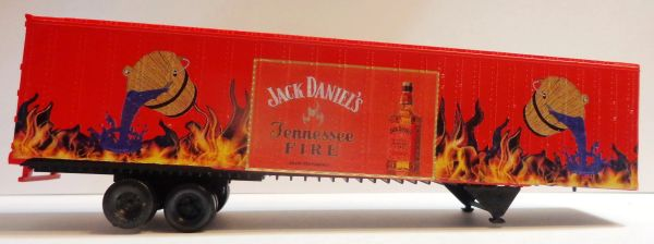 JACK DANIELS TENNESSEE FIRE 53 FT TRAILER HO SCALE DECAL SET