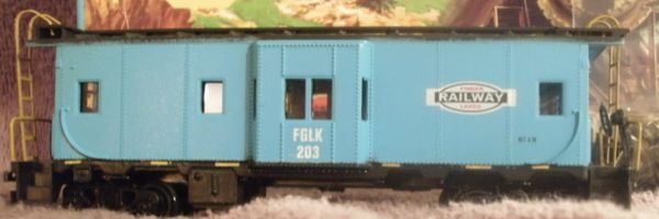 Finger Lakes Railway Bay window caboose HO Scale decal set.