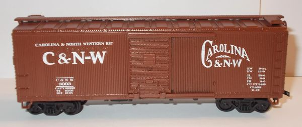 CAROLINA & NORTH WESTERN HO SCALE 40 FT BOXCAR DECAL SET