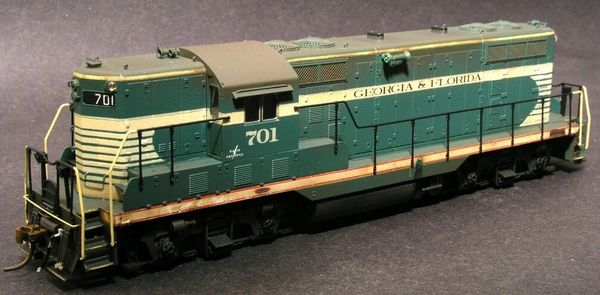 GEORGIA AND FLORIDA RAILROAD GP7 AS DELIVERED PAINT GRAPHICS HO DECAL SET