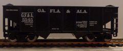 GEORGIA FLORIDA & ALABAMA R.R. 2 BAY OPEN HOPPER CAR