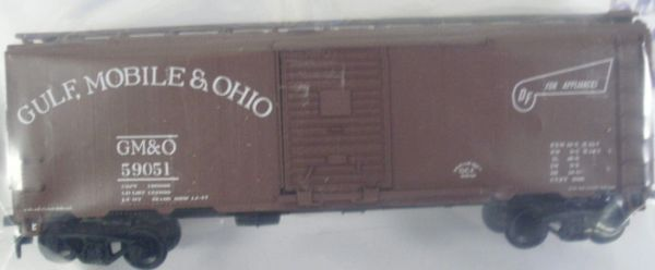 GULF, MOBILE & OHIO 40 FT BOXCAR APPLIANCE SVCE. HO DECAL SET
