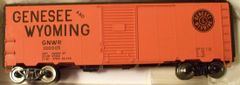 GNWR 40 FT SD BOXCAR HO DECAL SET. BLACK SOLID LOGO