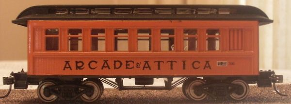 Arcade & Attica Passenger Car HO decal set.