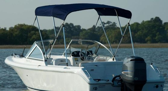 Boat bimini top shade