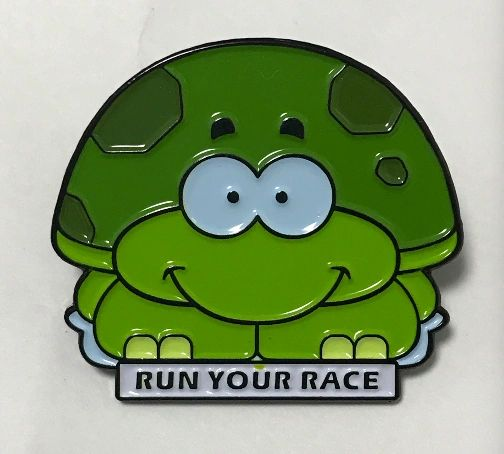 Turtle Race pin