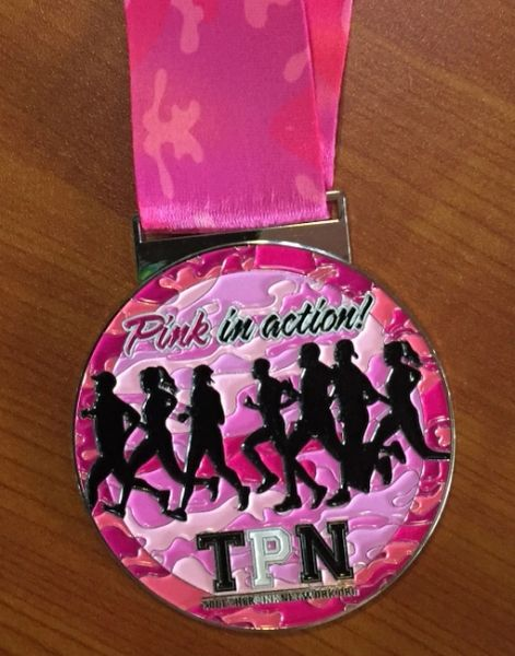 TPN Pink in Action Medal 2017