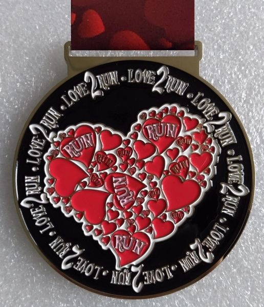 Love 2 Run Medal