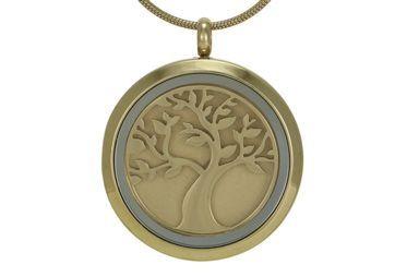 Round Pendant Tree Bronze