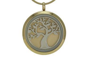Round Pendant Tree Bronze / Pewter