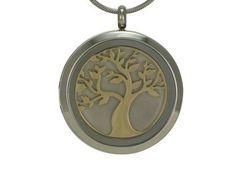Round Pendant Tree Pewter / Bronze