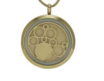 Round Pendant Circles Bronze