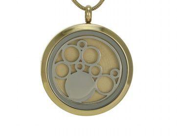 Round Pendant Circles Bronze / Pewter