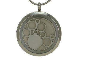 Round Pendant Circles Pewter
