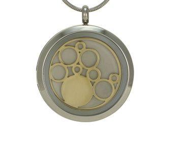 Round Pendant Circles Pewter / Bronze