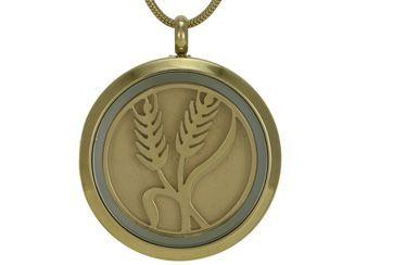 Round Pendant Wheat Bronze
