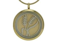 Round Pendant Wheat Bronze / Pewter
