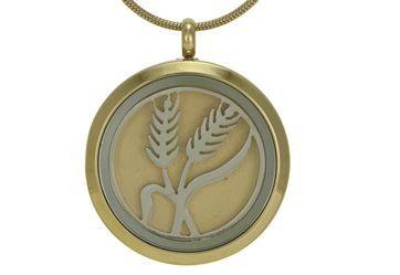 Round Pendant Wheat Bronze / Pewter