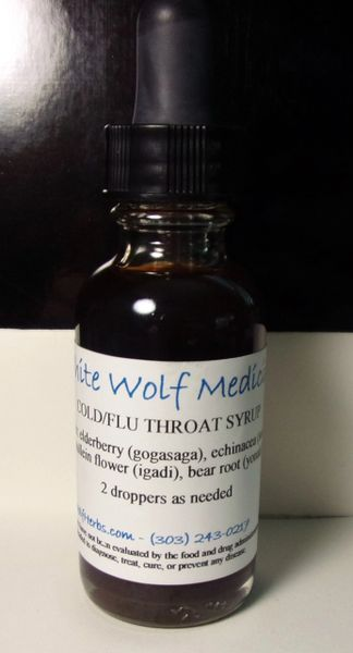 Cold/Flu Throat Syrup (4 oz. Bottle)