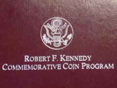 1998 S Robert F. Kennedy Proof Silver Dollar Commemorative Coin Program 1 Oz. Proof Silver