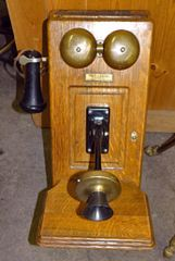 Late 1800's Vintage Antique - Western Electric Oak Wall Phone Case