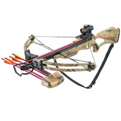 175lbs All Fiberglass Compound Crossbow Red Dot Adjustable Sight 4 Arrows 300FPS