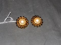 Christian Dior Pearl Earrings