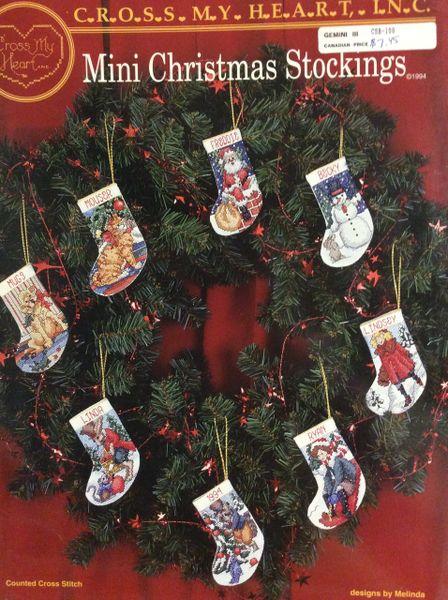 Mini Christmas Stockings - Pattern