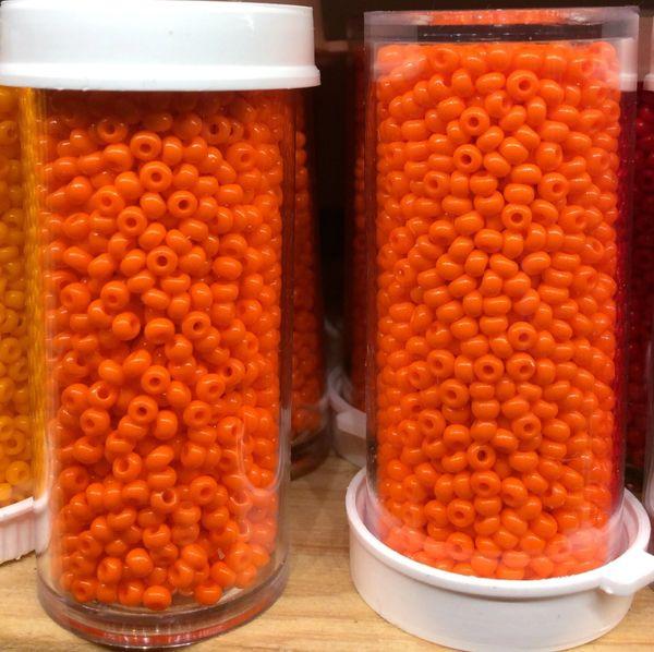 #6,8,&10 Czech Seed Beads - Orange, Opaque