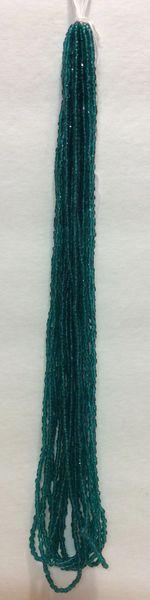 Czech 3 Cut Beads - Teal Green Transparent