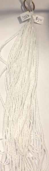 Czech 3 Cut Beads - White, Opaque