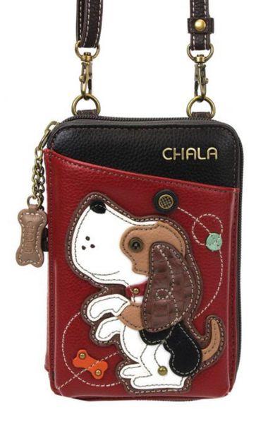 Chala Handbags - Wallet Crossbody/ Phone Holder, Dog A