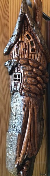 Hand Carved Fairy House by DB Carvings
