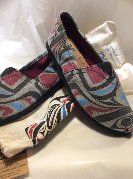 Native Sole - Canvas Shoes, Raven & Whale