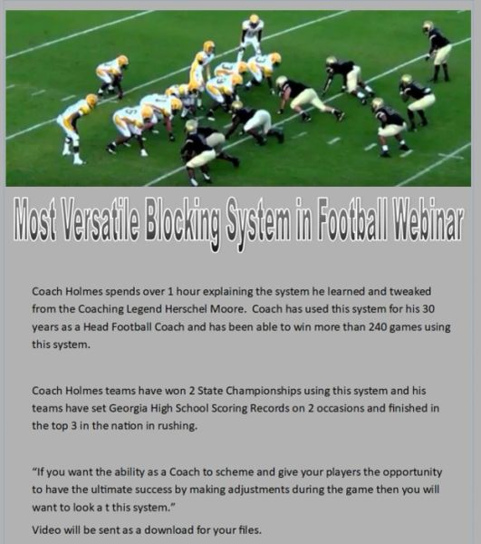 Most Versatile Blocking System in Football Webinar