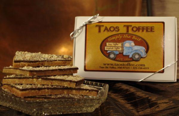 Dark Chocolate Almond Toffee 1 lb. Gift Box