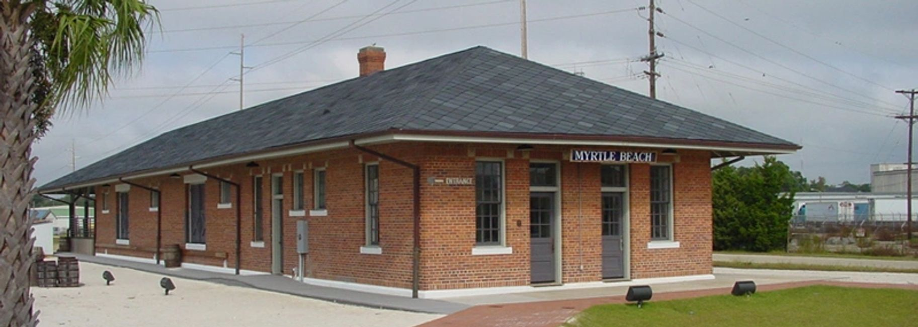 Historic Myrtle Beach Train Depot restoration in South Carolina