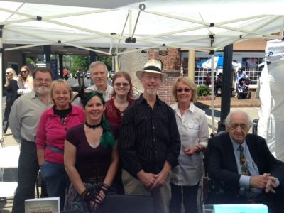 Bonnie Tinsley with the Middle Tennessee Authors Circle at the Franklin Main Street Festival in Apri