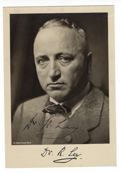 Robert Ley signed photo