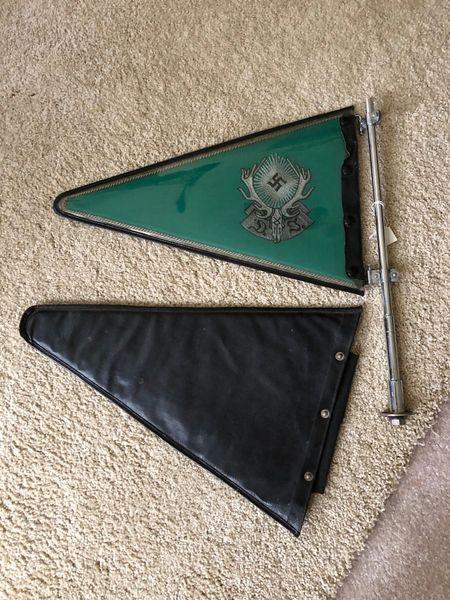 3rd Reich Hunting Association car pennant