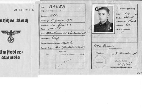 SS Ausweis for a Russian SS man