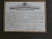 Gen. G. S. Patton Jr. signed document