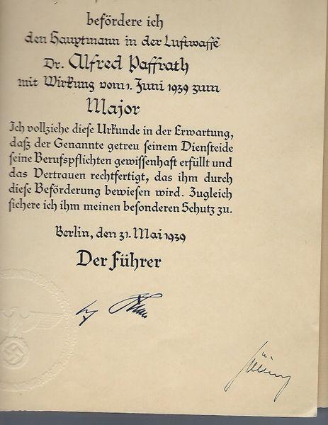 Hermann Goering signed document in folder