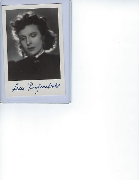 Leni Riefenstahl signed photo