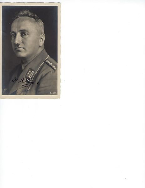 Robert Ley signed photo